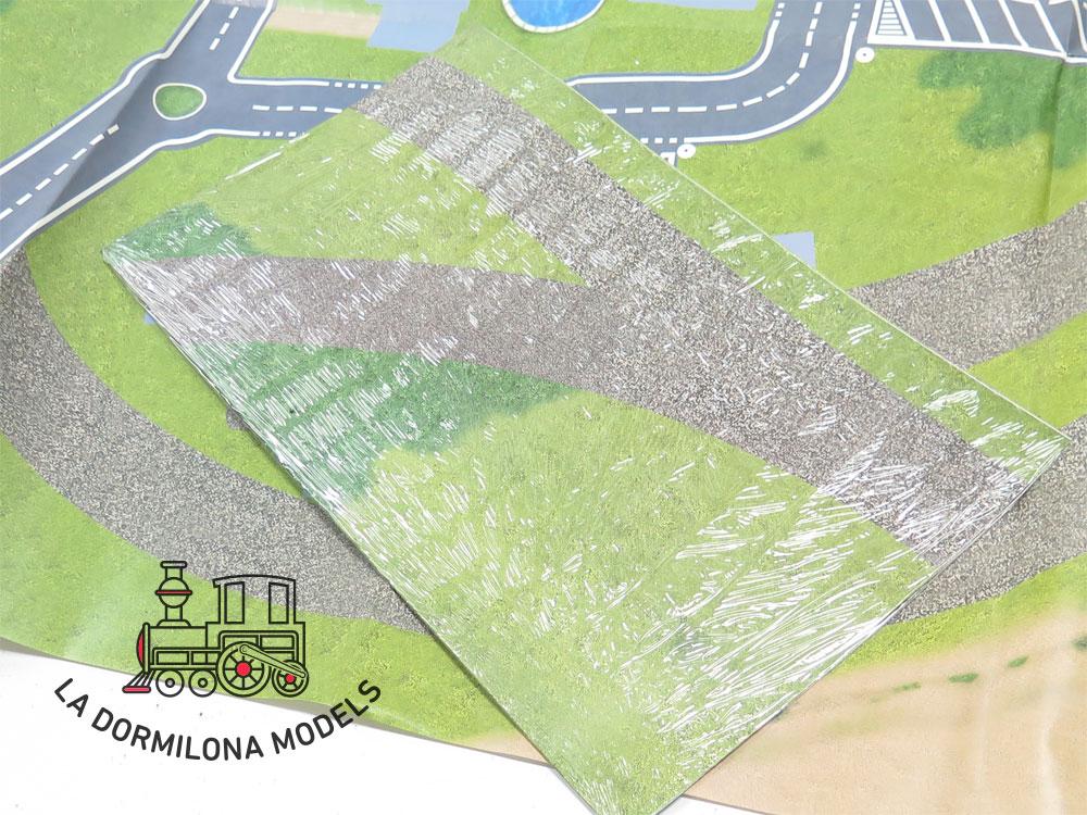 DG163 ESCALA 0 lOTE DE EDIFICIOS H0 con PLANO COMPLETO para montar una maqueta ferroviaria