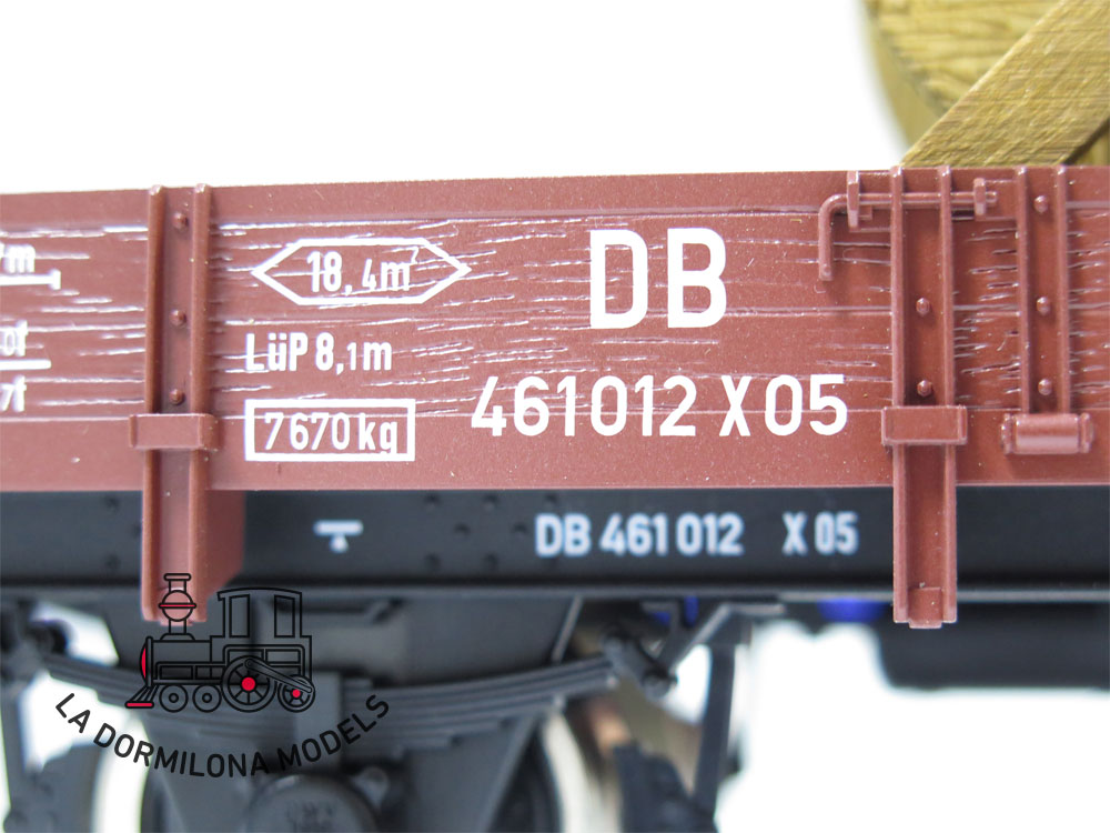 DV138 SPUR 1 MÄRKLIN 58283 VAGON MERCANCIAS / NIEDERBORDWAGEN der DB - OVP