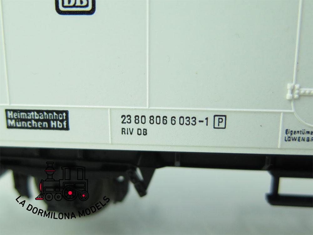 DN100 H0 =DC FLEISCHMANN 5328 KÜHLWAGEN LÖWENBRÄU der DB - OVP