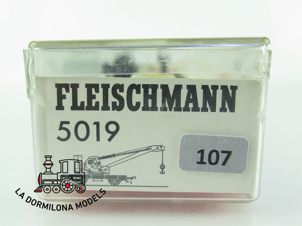 DN107 H0 =DC FLEISCHMANN 5019 KRANWAGEN de la DB - OVP