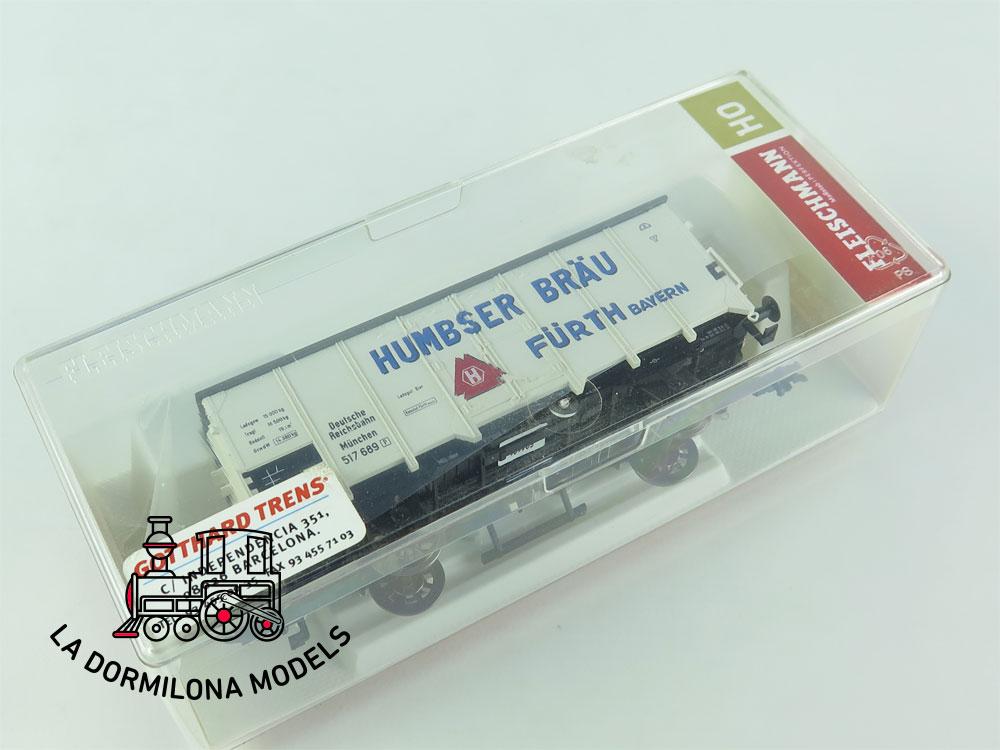 DN111 H0 =DC FLEISCHMANN 5341 01 Goederenwagen HUMBSER BRÄU FÜRTH  - OVP