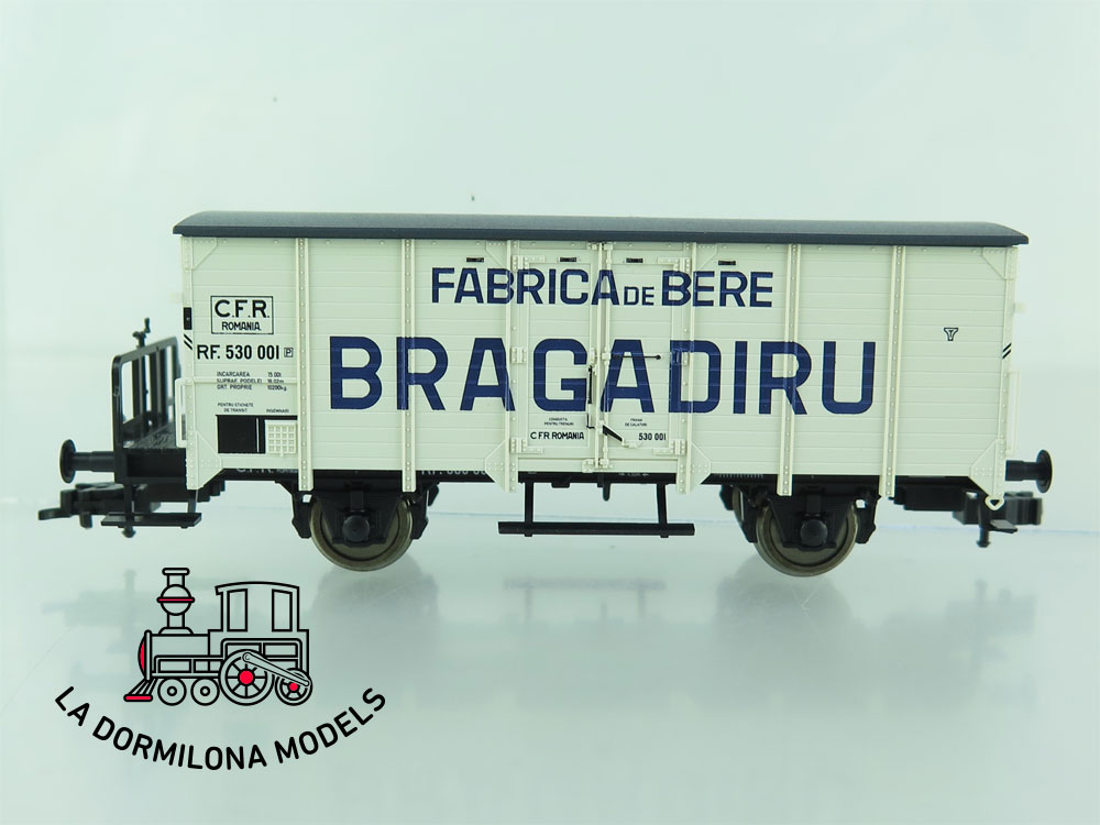 DN114 H0 =DC FLEISCHMANN 5449 04 VAGON CERRADO DE MADERA GRAGADIRU C.F.R. ROMANIA - OVP