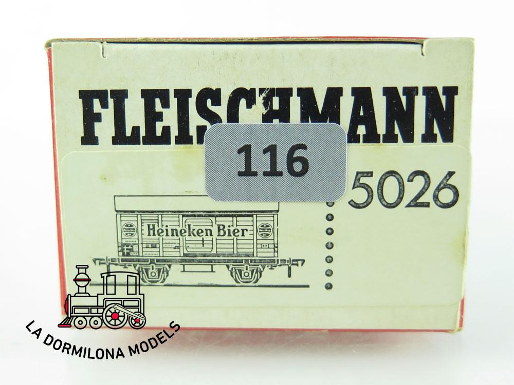 DN116 H0 =DC FLEISCHMANN 5026 BIERWAGEN HEINEKEN BIER der NS - OVP