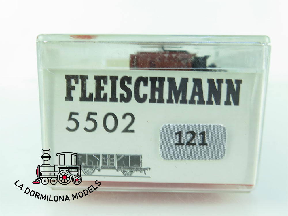 DN121 H0 =DC FLEISCHMANN 5202 VAGON MERCANCÍAS BORDES ALTOS de la DB - OVP
