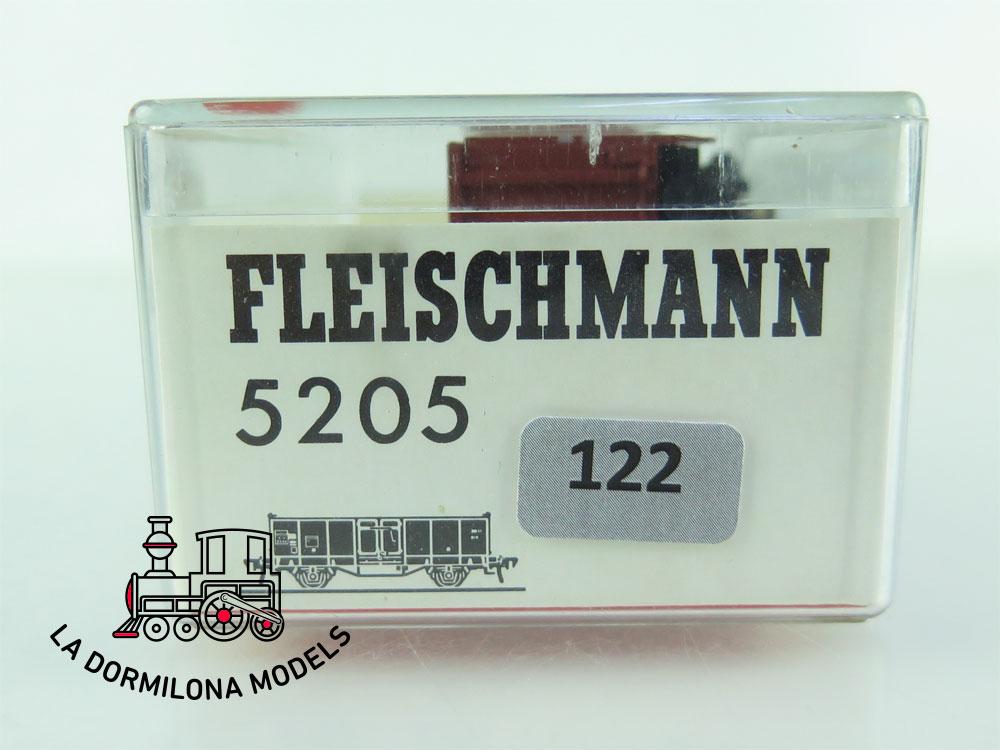 DN122 H0 =DC FLEISCHMANN 5205 VAGON MERCANCÍAS BORDES ALTOS de la DB - OVP