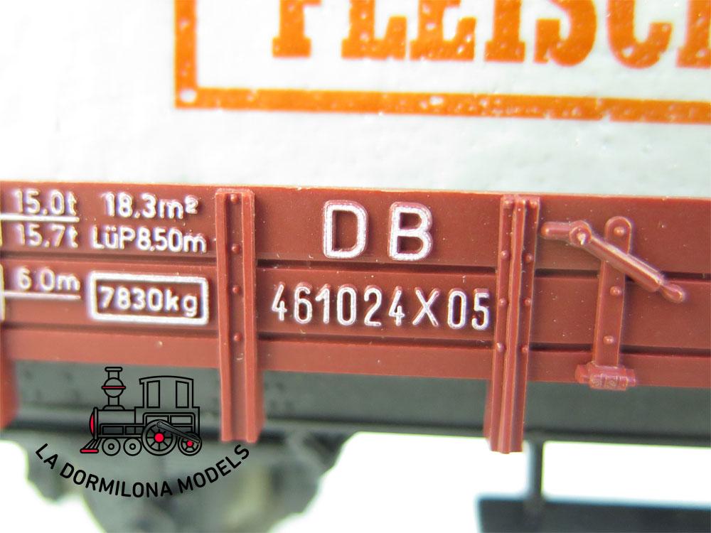 DN125 H0 =DC FLEISCHMANN 5200 VAGON DE BORDES MEDIOS CON LONA FLEISCHMANN - OVP