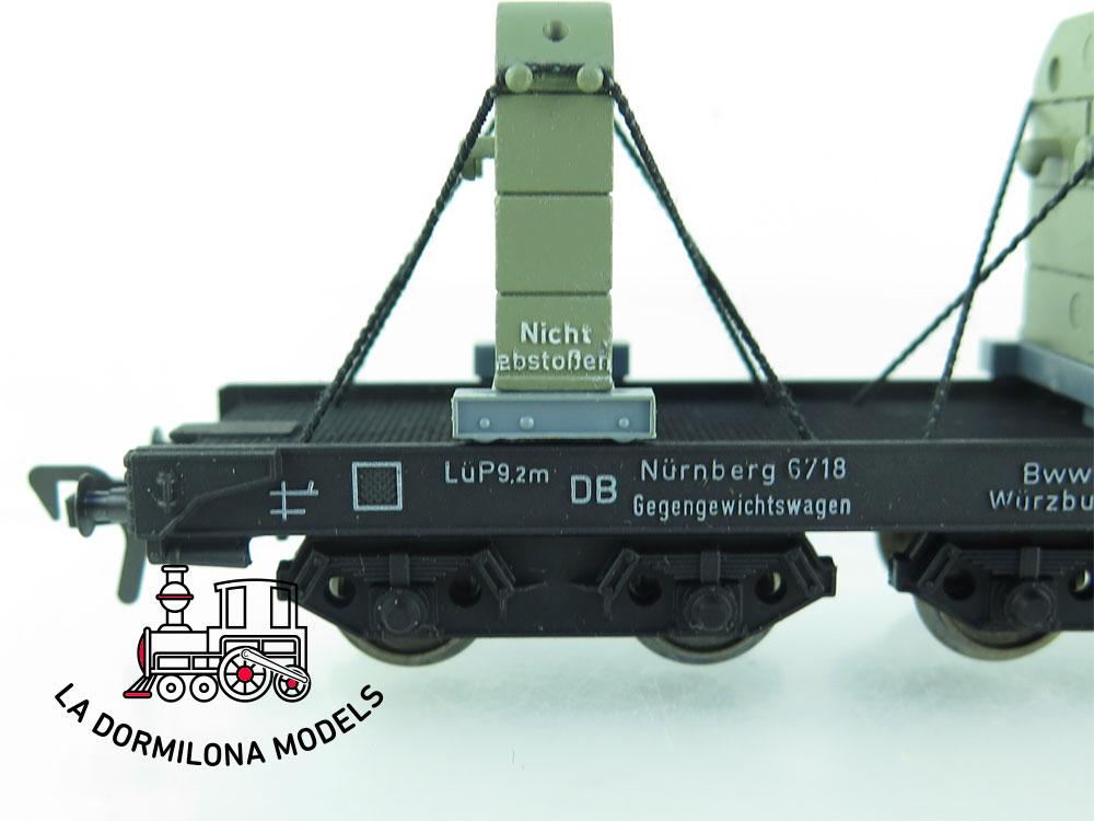 DN127 H0 =DC FLEISCHMANN 5596 GEGENGEWICHTSWAGEN de la DB - OVP