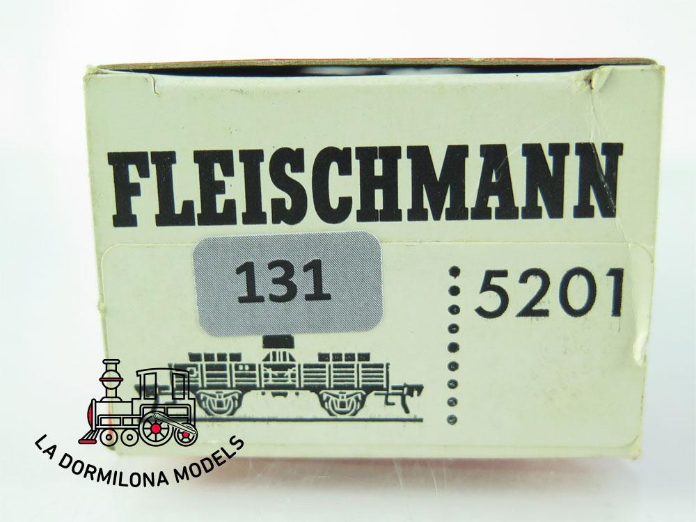DN131 H0 =DC FLEISCHMANN 5201 VAGÓN ADICIONAL PARA GRÚA de la DB - OVP