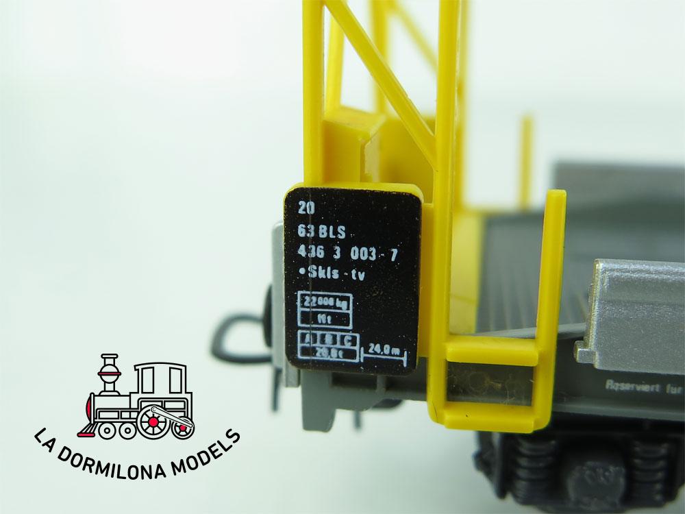 DN134 H0 =DC HAG Nr. 376 Auffahrwagen de la BLS - OVP