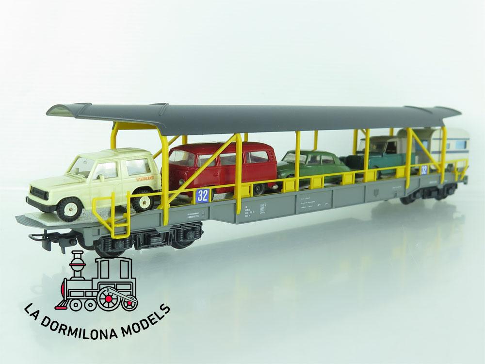 DN135 H0 =DC HAG Nr. 371 Autoverladewagen de la BLS - OVP