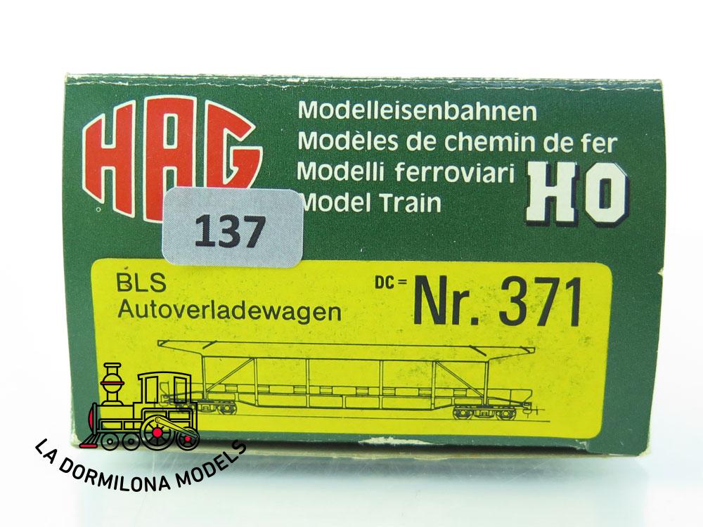 DN137 H0 =DC HAG Nr. 371 Autoverladewagen de la BLS - OVP