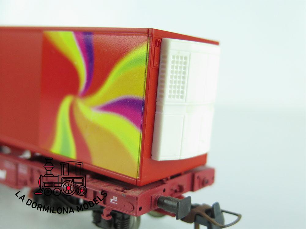 DN142 H0 =DC ROCO 47633 TASCHENWAGEN SUMMER INSIDET Type Sdgmns der DB - OVP