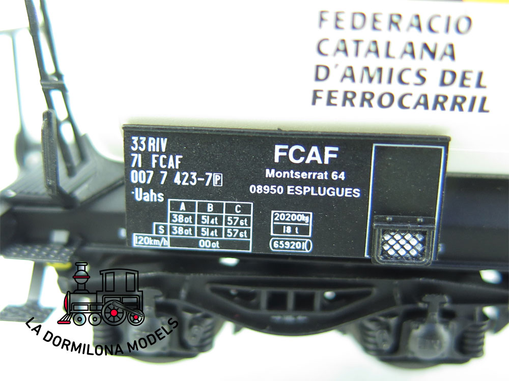 DN144 H0 =DC REE MODELS VAGÓN CISTERNA ESPECIAL FCAF - OVP