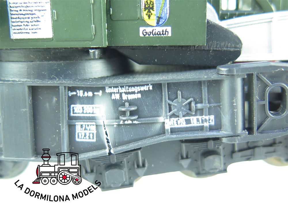 DN149 H0 =DC LILIPUT 210 00 KRANWAGEN GRÚA FERROVIARIA OPERATIVA  de la DB - OVP