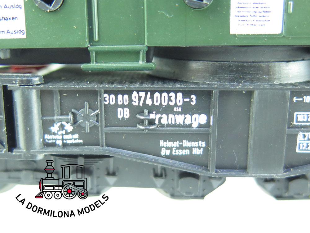 DN150 H0 =DC LILIPUT 210 00 KRANWAGEN GRÚA FERROVIARIA OPERATIVA  de la DB - OVP
