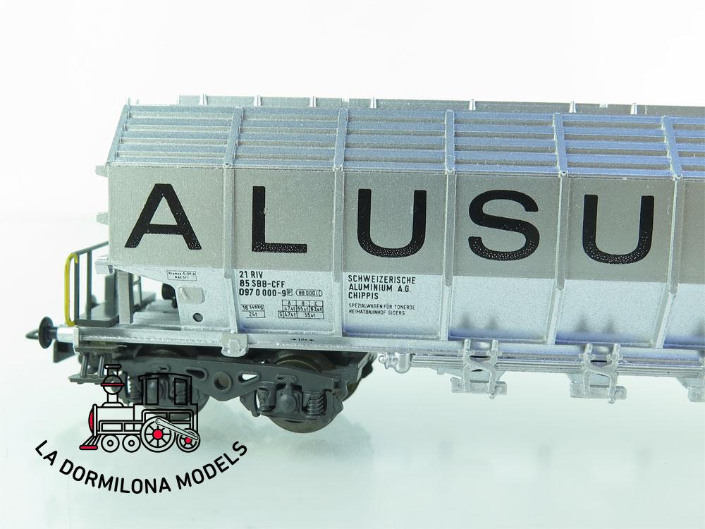 DN151 H0 =DC LILIPUT 243 50 VAGON MERCANCÍAS Goederenwagen PARA ALUMINIO de la SBB - OVP