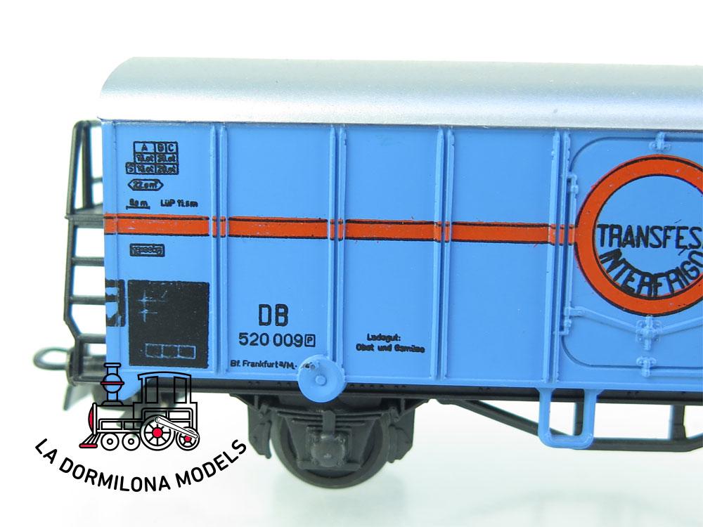 DN156 H0 =DC LILIPUT 234-2 H VAGON CERRADO TRANSFESA de la DB S/C