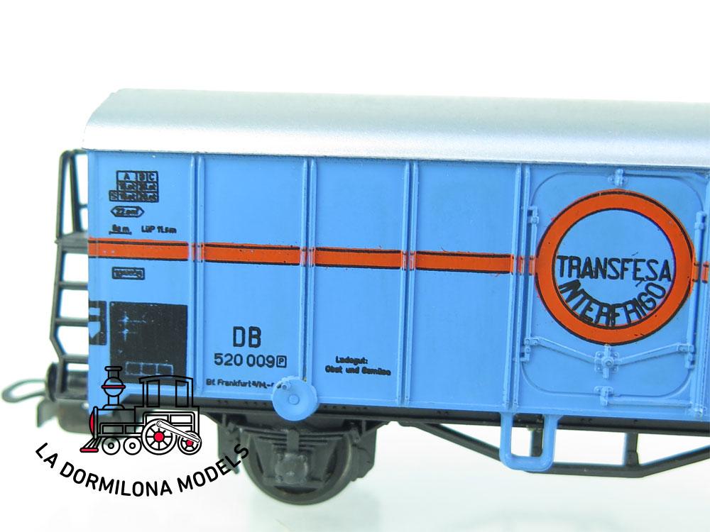 DN157 H0 =DC LILIPUT 234-2 H VAGON CERRADO TRANSFESA de la DB - OVP