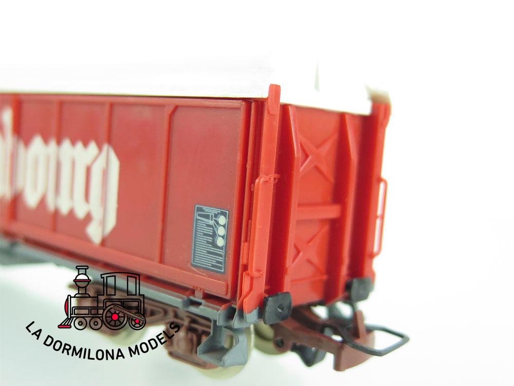 DN161 H0 =DC JOUEF 6731 VAGON CERRADO KRONENBOURG tipo Habis de la SNCF - OVP