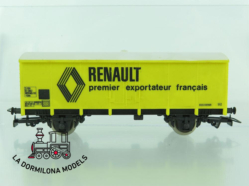 DN162 H0 =DC JOUEF 6127 VAGON CERRADO RENAULT de la SNCF - OVP
