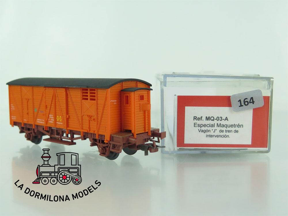 DN164 H0 =DC K-TRAIN MQ-03-A VAGON ESPECIAL MAQUETREN CON GARITA Tipo J de INTERVENCIÓN