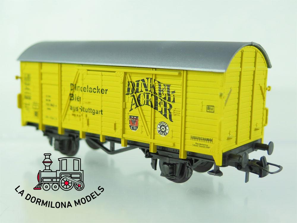 DN84 H0 =DC ROCO 46018 BIERWAGEN DINKEL-ACKER der DB - OVP