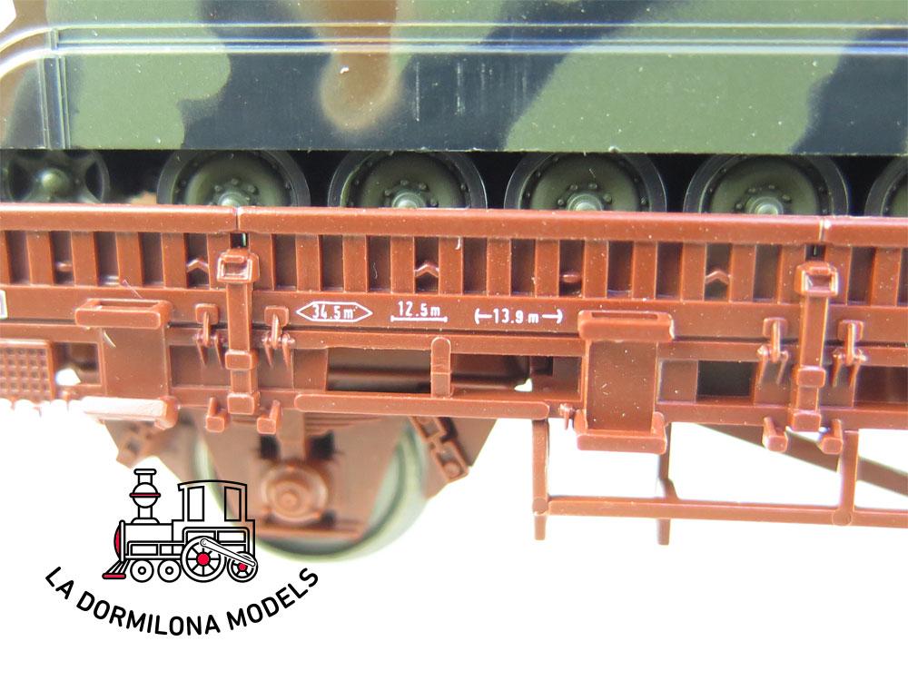 DN88 H0 =DC ROCO 804 MINITANKS VAGÓN DE BORDES BAJOS CON DOS TANQUES Ed. Especial - OVP