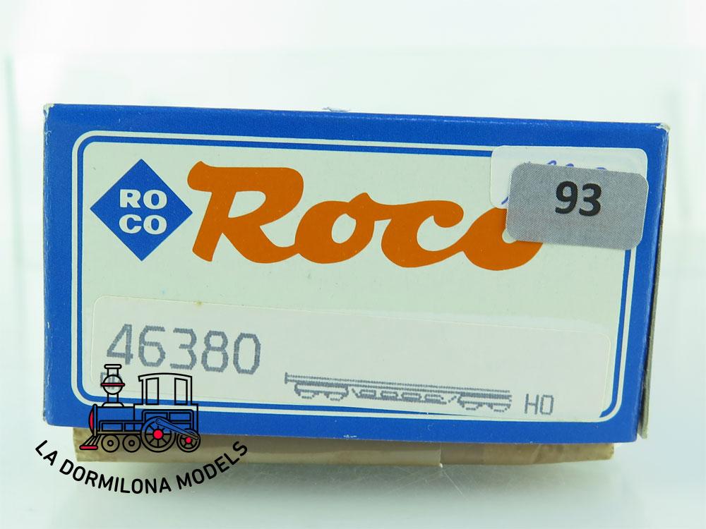 DN93 H0 =DC ROCO 46380 VAGÓN PLATAFORMA CON CAMIÓN MILITAR de la DB - OVP