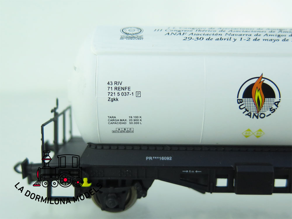 DG165 H0 =DC K-TRAIN VAGÓN CISTERNA Ed. Especial XLIV A.N.A.F. 2011 RENFE - OVP