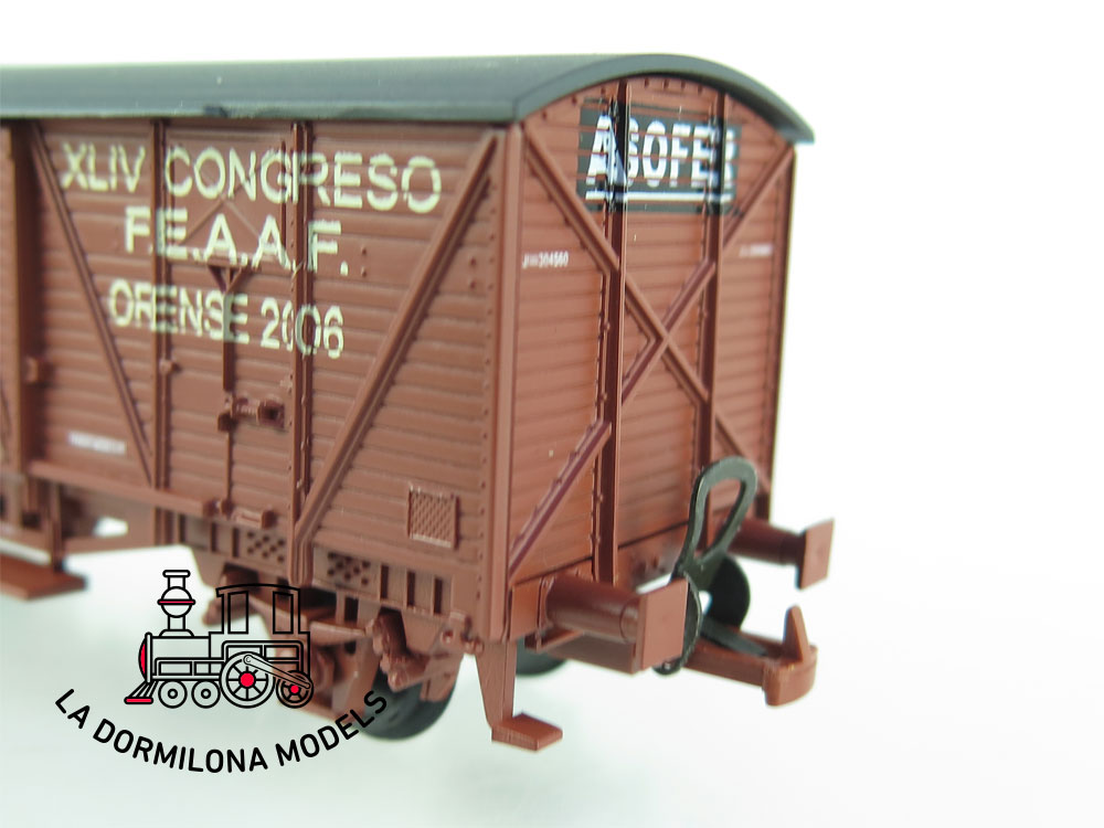 DG166 H0 =DC K-TRAIN VAGÓN CERRADO Ed. Especial XLIV F.E.A.A.F. ORENSE 2008 COPASA - OVP