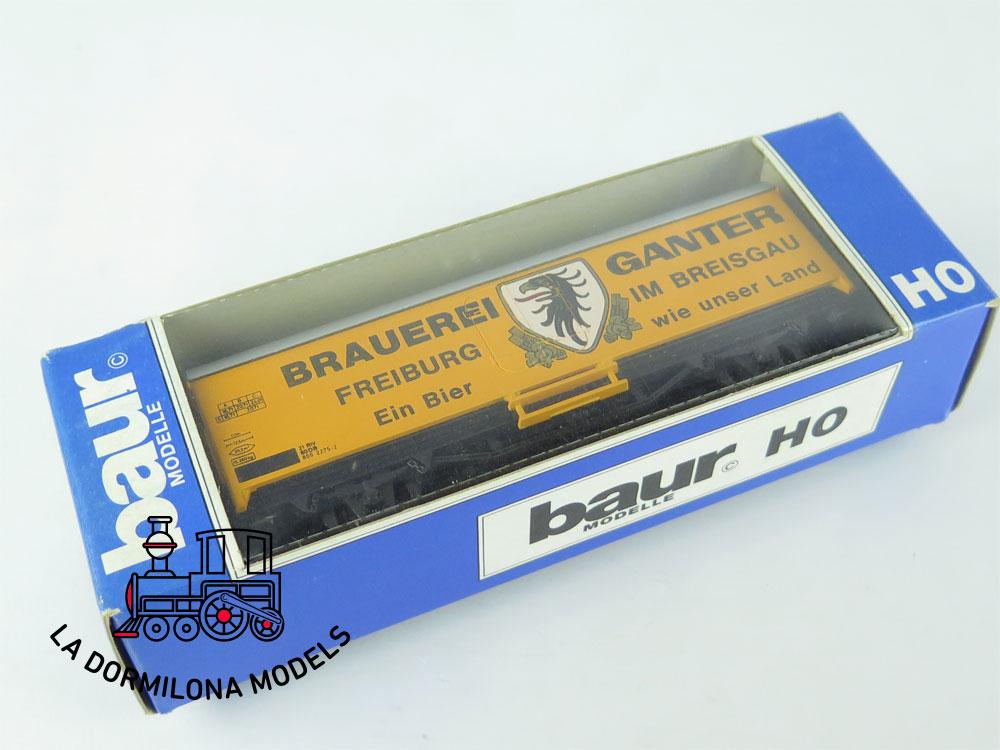 DG168 H0 =DC BAUR / ROCO VAGÓN FRIGORÍFICO BRAUEREI GANTER der DB - OVP