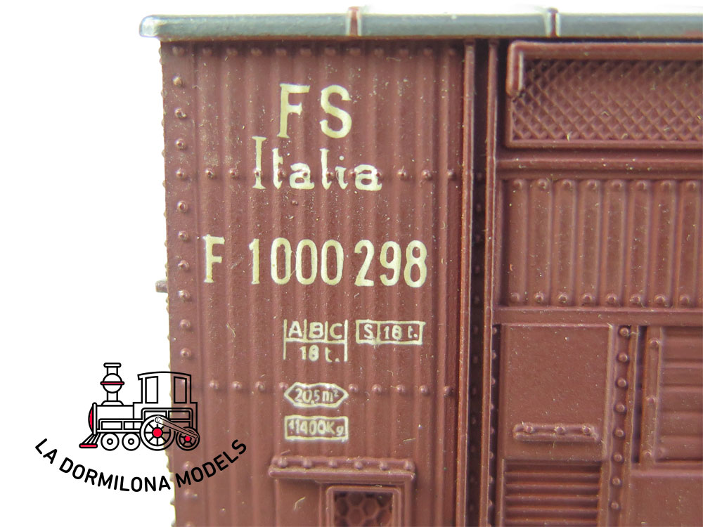 DG170 H0 =DC RIVAROSSI 68 VAGÓN CERRADO Tipo F de la FS - OVP