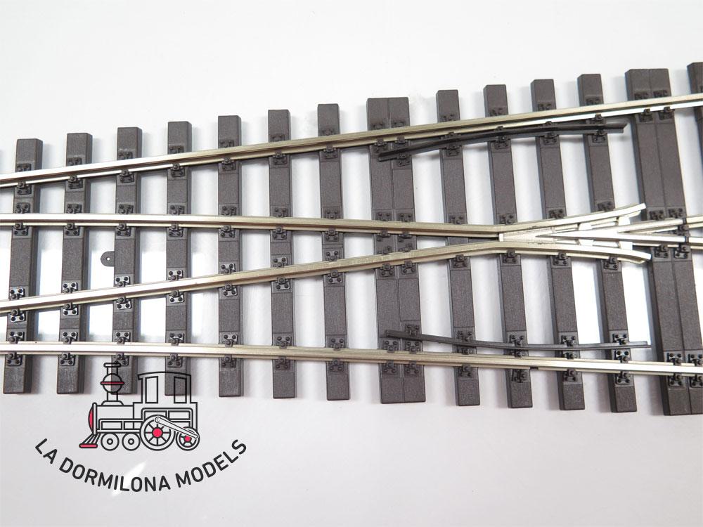 HÜBNER Art.Nr. 59083 Right Turnout Set. (H1000-1S) Desvio derecha 600 mm - OVP