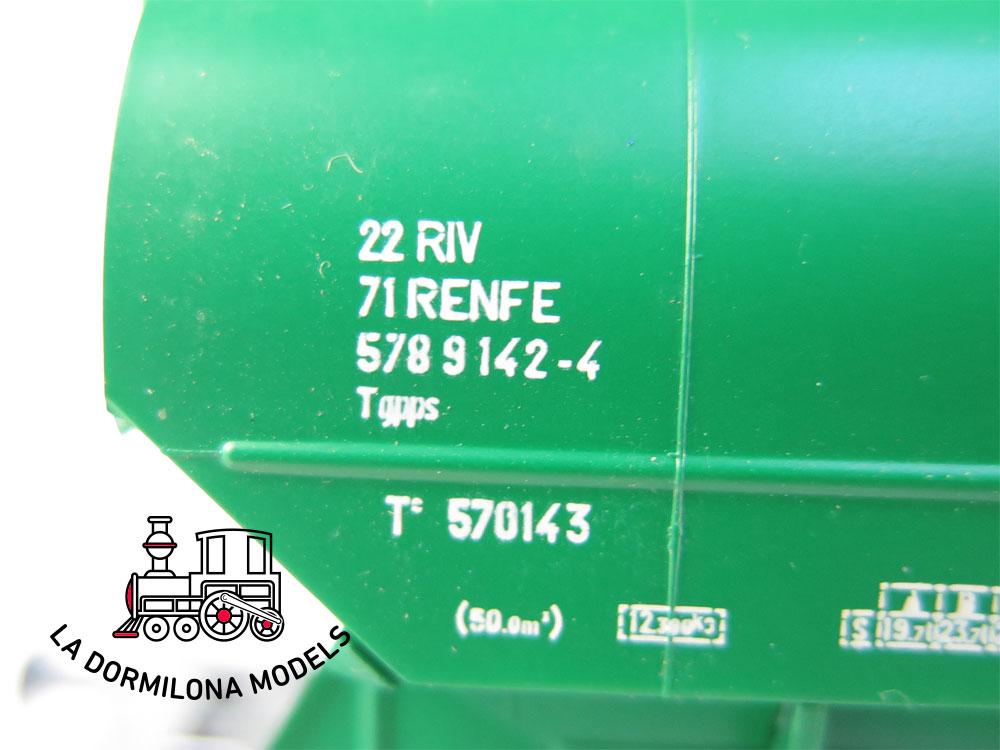 PL342 H0 =DC SUDEXPRESS 570143212 Set de 2 vagones tolvas verde RENFE - OVP