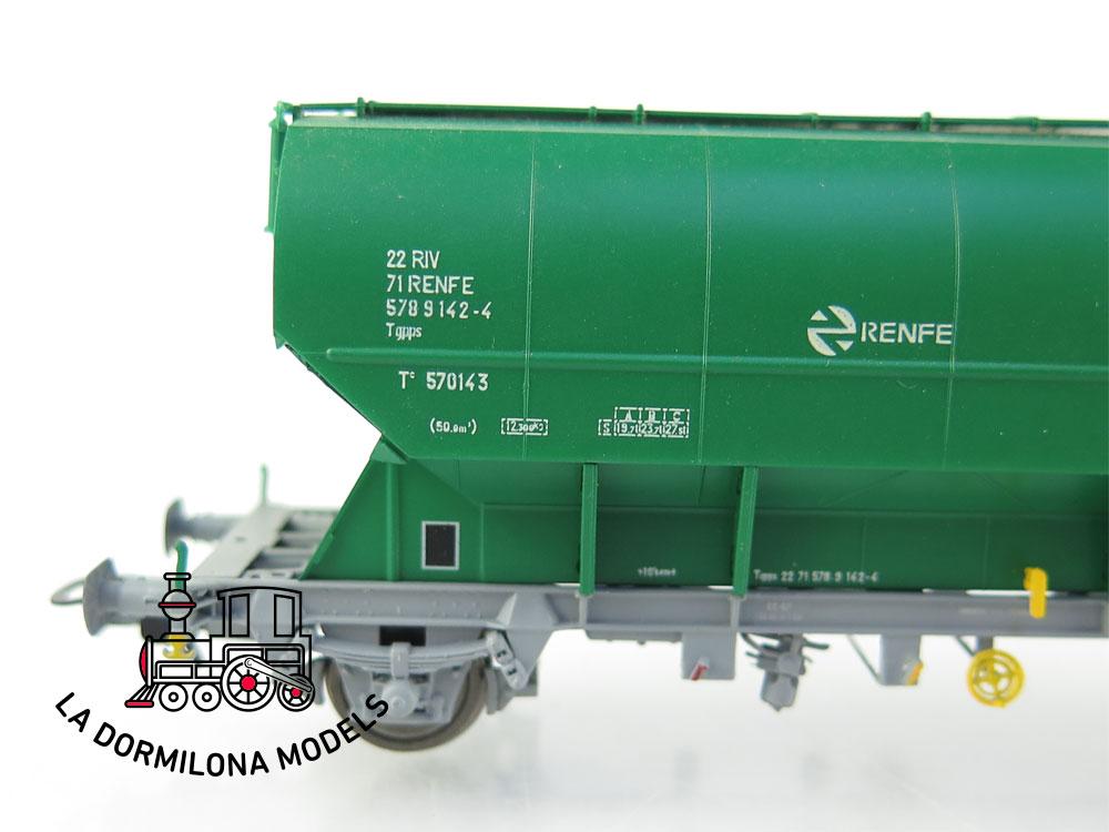 PL344 H0 =DC SUDEXPRESS 570143212 Set de 2 vagones tolvas verde RENFE - OVP