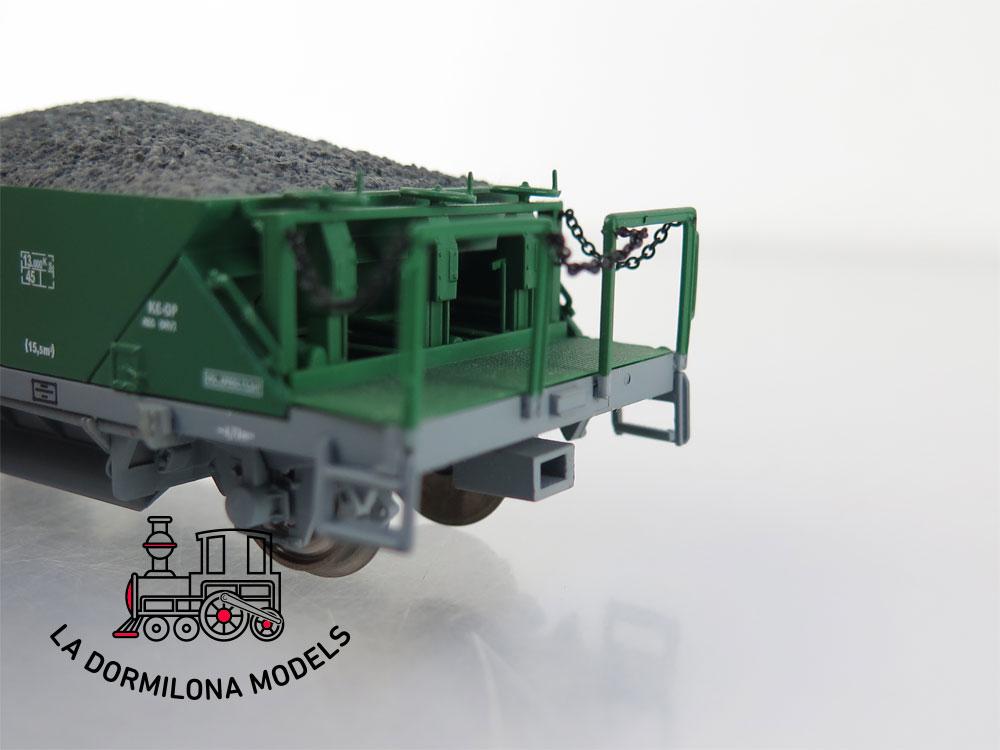 PL345 H0 =DC MABAR 81701 Set 2 pares de tolvas verde/gris RENFE - OVP