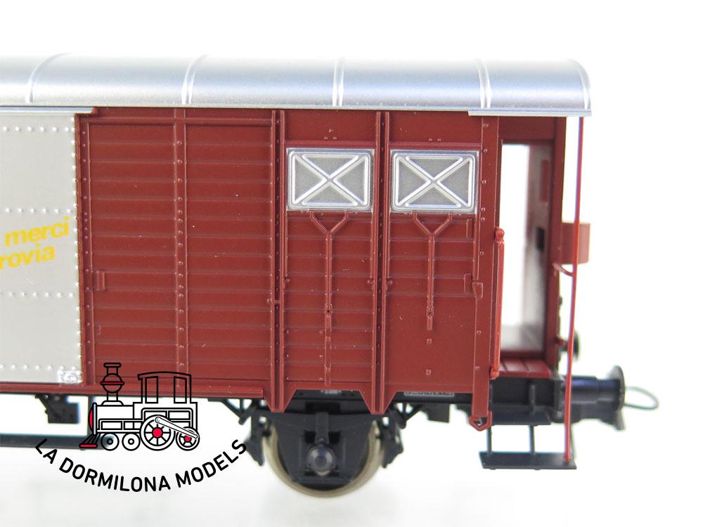 PL349 H0 =DC ROCO 66207 VAGÓN CERRADO tipo Gms Für Güter die Bahn de la SBB - OVP
