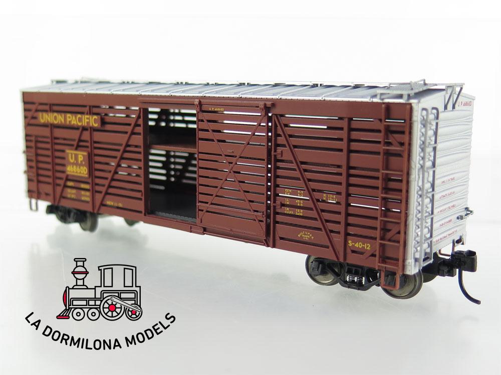 PL351 H0 =DC TRIX 24905 Set 3 US Viehwagen Union Pacific - OVP
