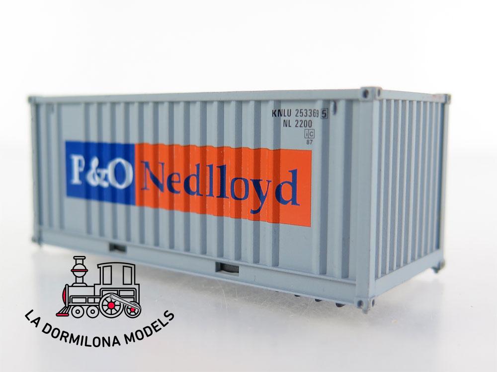 PL352 H0 =DC ELECTROTREN 0137 Set de 8 Contenedores - OVP