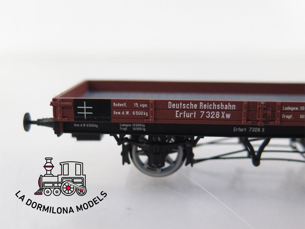 PL356 H0 =DC BRAWA 48006 Niederbordwagen Erfurt 7328 X der DRG - OVP