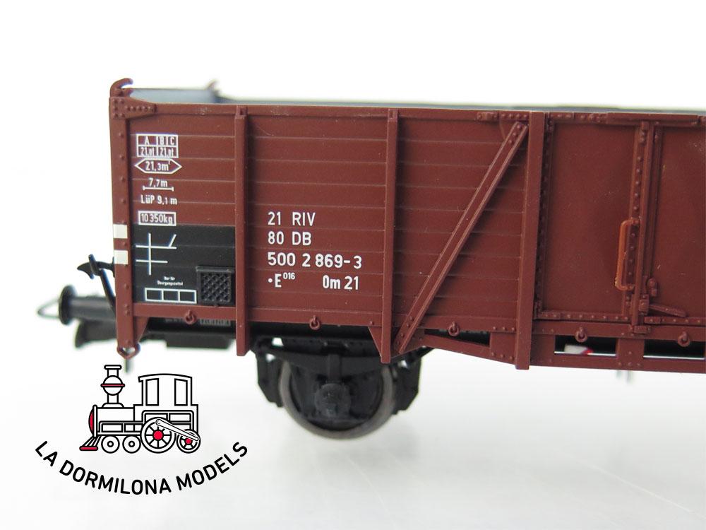 PL358 H0 =DC BRAWA 48416 Güterwagen Om21 de la DB Ep. IV - OVP
