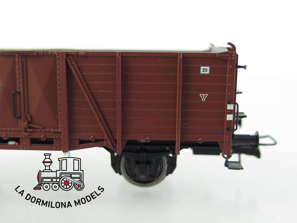 PL359 H0 =DC BRAWA 48414 Güterwagen Om de la DB 15 958 Ep.IV - OVP