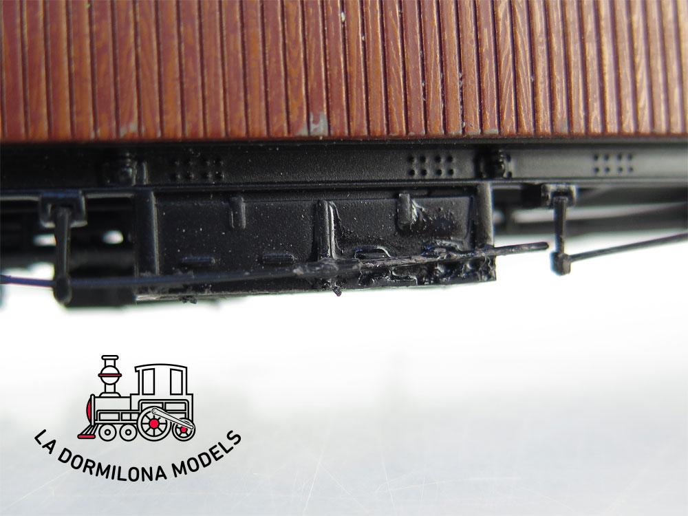 PL360 H0 =DC IBERTREN 4401 Set 3 Coches de madera de largo recorrido Ep.II NORTE - OVP
