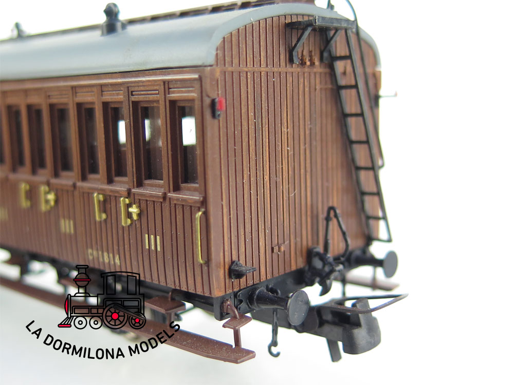 PL361 H0 =DC Mabar 81600 Set de 3 Coches de pasajeros I-II-III Cl. RENFE - OVP