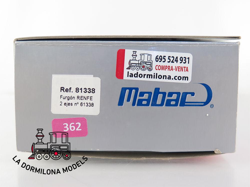 PL362 H0 =DC Mabar 81338 Furgón de Equipajes DV61338 RENFE - OVP