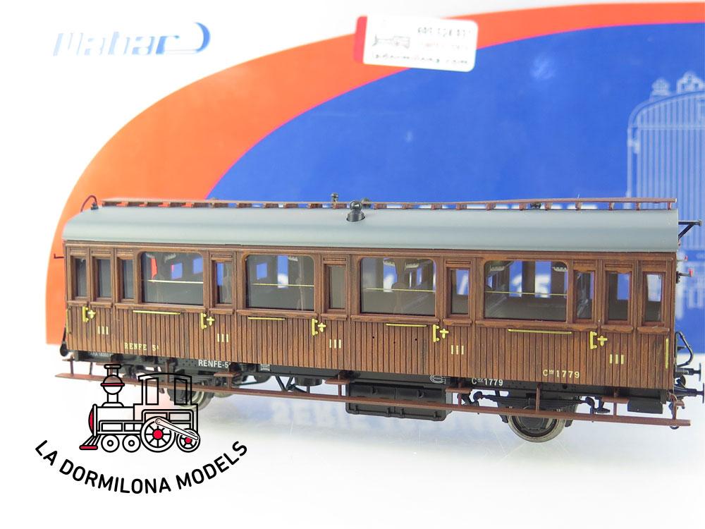 PL363 H0 =DC Mabar 81603 Coche de pasajeros Cl.III Num.1779 RENFE - OVP