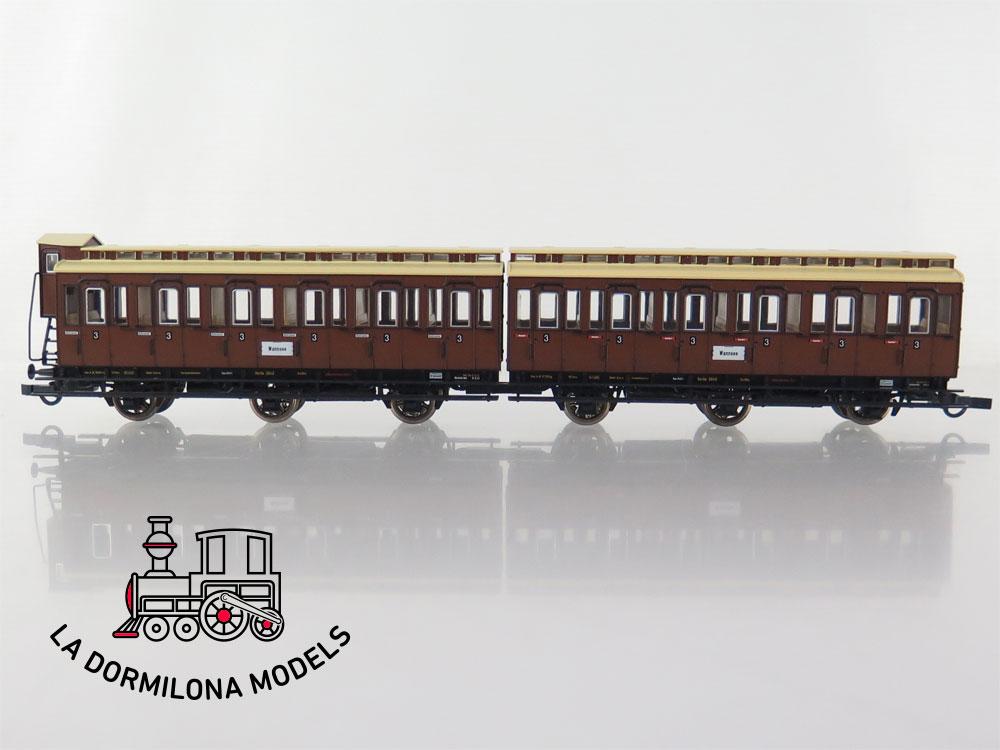 PL364 H0 =DC ROCO 64068 Reisezugwagen 3842 + 3848 der K.P.E.V - OVP