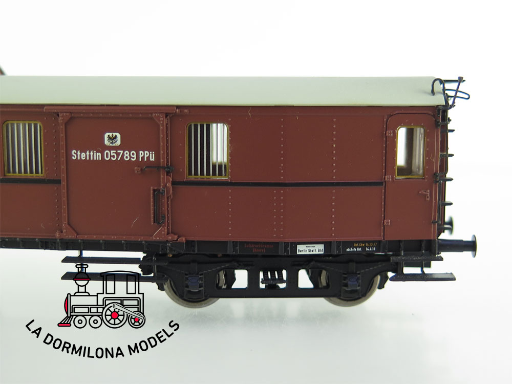 PL371 H0 =DC BRAWA 45405 Gepäckwagen Pw4ü Pr16 der K.P.E.V. Ep.I - OVP