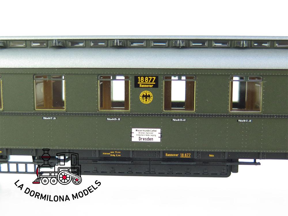 PL372 H0 =DC BRAWA 2443 Preußischer D-Zugwagen C4ü PR 21 der DRG - OVP