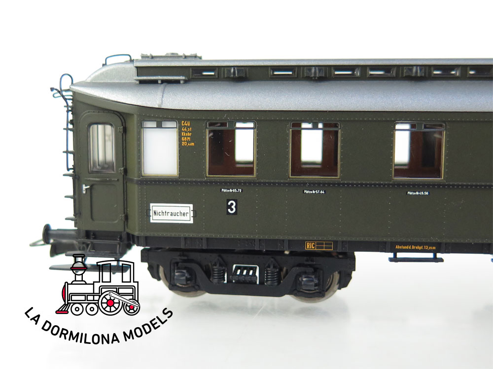 PL373 H0 =DC BRAWA 2443 Preußischer D-Zugwagen C4ü PR 21 der DRG - OVP
